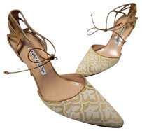 Manolo Blahnik Gold Beige Pumps