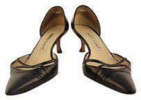 Manolo Blahnik Manolo Womens Heels Leather Black Pumps