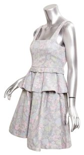 Marc by Marc Jacobs short dress Gray Faded Pink Floral Peplum Denim on Tradesy