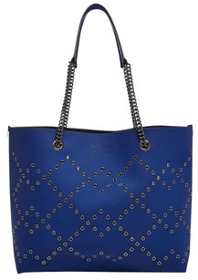 Marc by Marc Jacobs Leather Grommet Gunmetal Hardware New With Tags Tote in True Blue