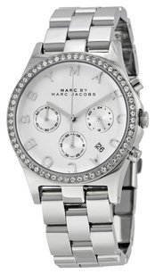 Marc by Marc Jacobs MBM3104 Henry Chronograph Silver Dial Stainless Steel Ladies Watch