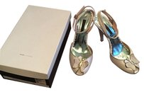 Marc by Marc Jacobs Peeptoe Ankle Wrap Butterfly Butterflies Leather White Sandals