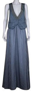Marc by Marc Jacobs Womens Striped Med Silk Formal Dress