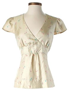 Marc by Marc Jacobs Silk Hearts Print Top Ivory