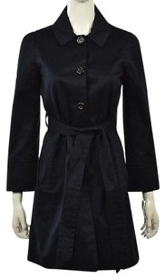 Marc by Marc Jacobs Womens Navy Trench Coat Cotton Blue Jacket