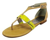 Marc Fisher Womens Leather Natural Multi Sandals