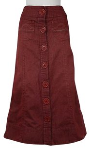 Marc Jacobs Womens Red Denim Wash Casual Long Skirt