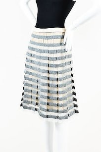 Marc Jacobs Gray White Skirt Gray, White, Beige