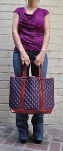 Marc Jacobs Quilted Satin Tote in Purples
