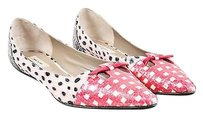 Marc Jacobs Pink Black White Multi-Color Flats