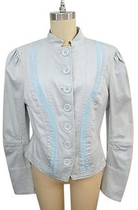 Marc Jacobs Marc Light Button Down W Ribbon Detail Blue Jacket