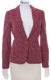 Marc Jacobs Cotton Monogram Corduroy Pink Blazer