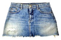Marc Jacobs Distressed Denim Mini Skirt Blue