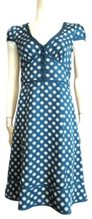 Marc Jacobs short dress Teal and pale gray on Tradesy