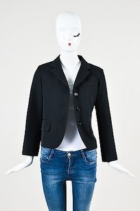 Marc Jacobs Marc Jacobs Black Glossy Buttons Multi Pocket Ls Blazer Jacket