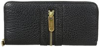 Marc Jacobs Marc By Marc Jacobs Roadster Slim Zip Black Leather Continental Clutch Wallet