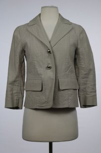 Marc Jacobs Marc Jacobs Womens Taupe Blazer 0 Wtw 34 Sleeve Jacket Cotton Collared