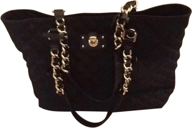 Marc Jacobs Quilted Classic Tote Vintage Chain Black Gold Chic ...