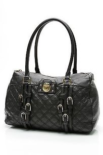 Marc Jacobs Quilted Leather Damen Bowler Satchel in Black