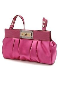Marc Jacobs Satin Satchel in Fuchsia