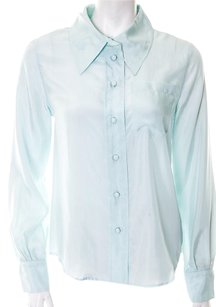 Marc Jacobs Silk Cuffs Button Down Shirt Sky Blue