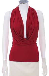 Marciano Spandex Rhinestone Sexy T-back Stretchy Top Lipstick Red