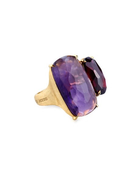 Marco Bicego 18k Cushion-Cut Amethyst & Topaz Cocktail Ring xMPGbU67