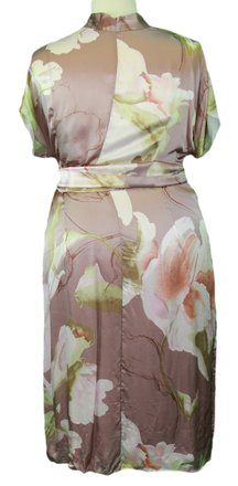 Marina Rinaldi By Maxmara Impiso Muave Floral Empire Waist Dress 1000 85%OFF