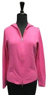 Mark Shale Cashmere Long Sleeves Zip Front Hood Casual 7454a Sweater