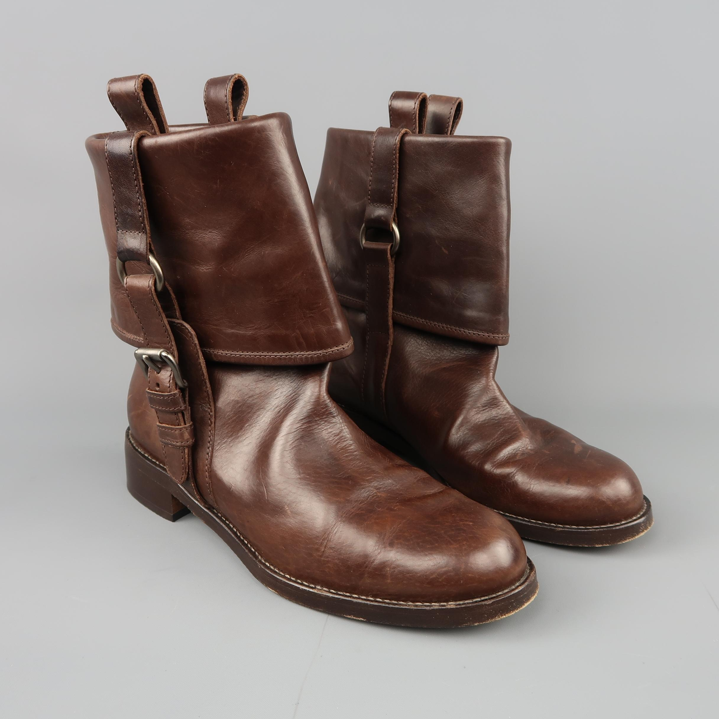 buy cheap get to buy Marni Leather Fold-Over Boots discount wholesale price outlet store locations rSwykp4dmB