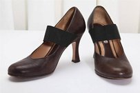 Marni Leather Elastic Brown Pumps