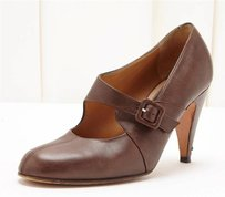 Marni Brown Leather Buckle Pumps