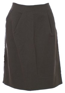 Marni Cotton Textile Italian Nylon Skirt Olive Green