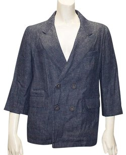 Marni Marni Denim Edition Blue Denim Double Breasted Blazer Jacket Hs904