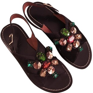 Marni Black with various color jeweled stone Sandals