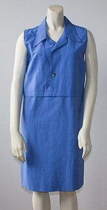 Marni short dress Blue Linen Cotton Blend on Tradesy