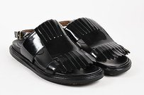 Marni Black Patent Leather Beige Sandals