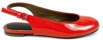 Marni Cherry Patent Leather Flat Slingback Eu Red Sandals
