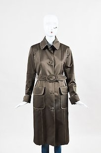 MARTIN GRANT Wool Silk Trench Coat