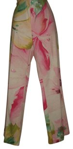 Marvelby La Perla Wide Leg Pants Watercolor pink, green, blue, green,yellow