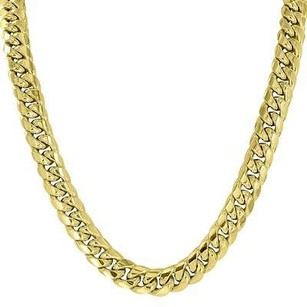 Master Of Bling 10k Yellow Gold Chain Mens Miami Cuban Link Chain Inches Mm
