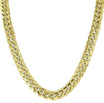 10k Yellow Gold Chain Mens Miami Cuban Link Chain Inches Mm