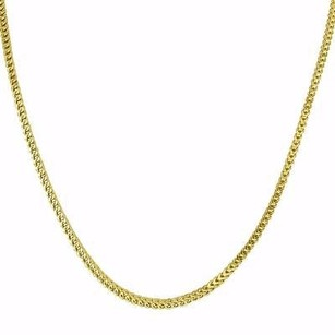 Master Of Bling 10k Yellow Gold Necklace Franco Box Cuban Link Chain Inches Mens Mm Classy
