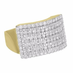 Master Of Bling 10k Yellow Gold Ring Unique Style Iced Out 2.40 Ct Real Diamond Round Cut Men