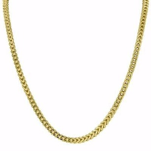 Master Of Bling Inch Necklace Real 10k Yellow Gold Franco Cuban Box Link Chain Mm