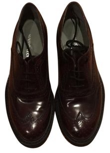 Mauro Leone Oxford Chic Brogue Lace-up Made In Italy Burgundy Flats