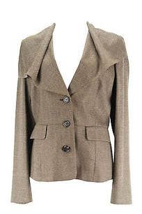 Max and Cleo Maxco. Polka Dot Womens Suit Brown Wool Blend -