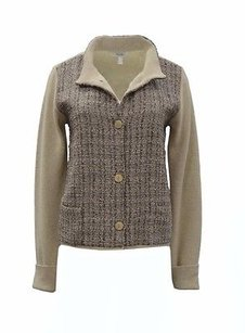 Max Mara Taupe Brown Woven Sweater