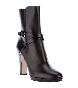 Max Mara Brown Leather Strap Browns Boots