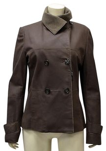 Max Mara Weekend Leather Brown Jacket